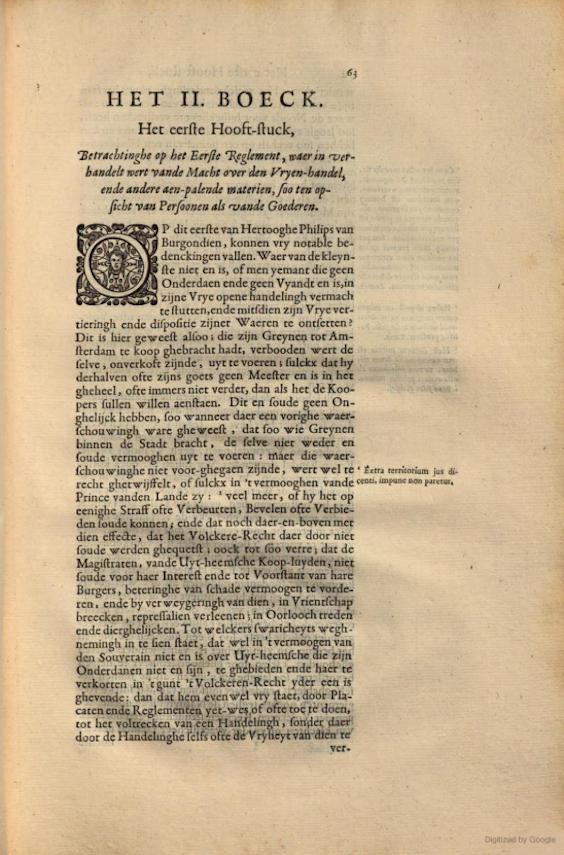 Pagina uit Placcaten, Ordonnantien ende Reglementen, op 't stuck van de Lijf-Tocht