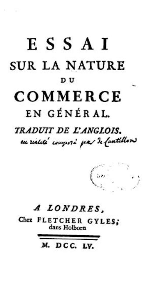 Cantillon (1755)
