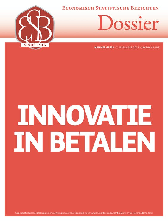 The ESB-dossier Innovatie in betalen was issued on September 7th.